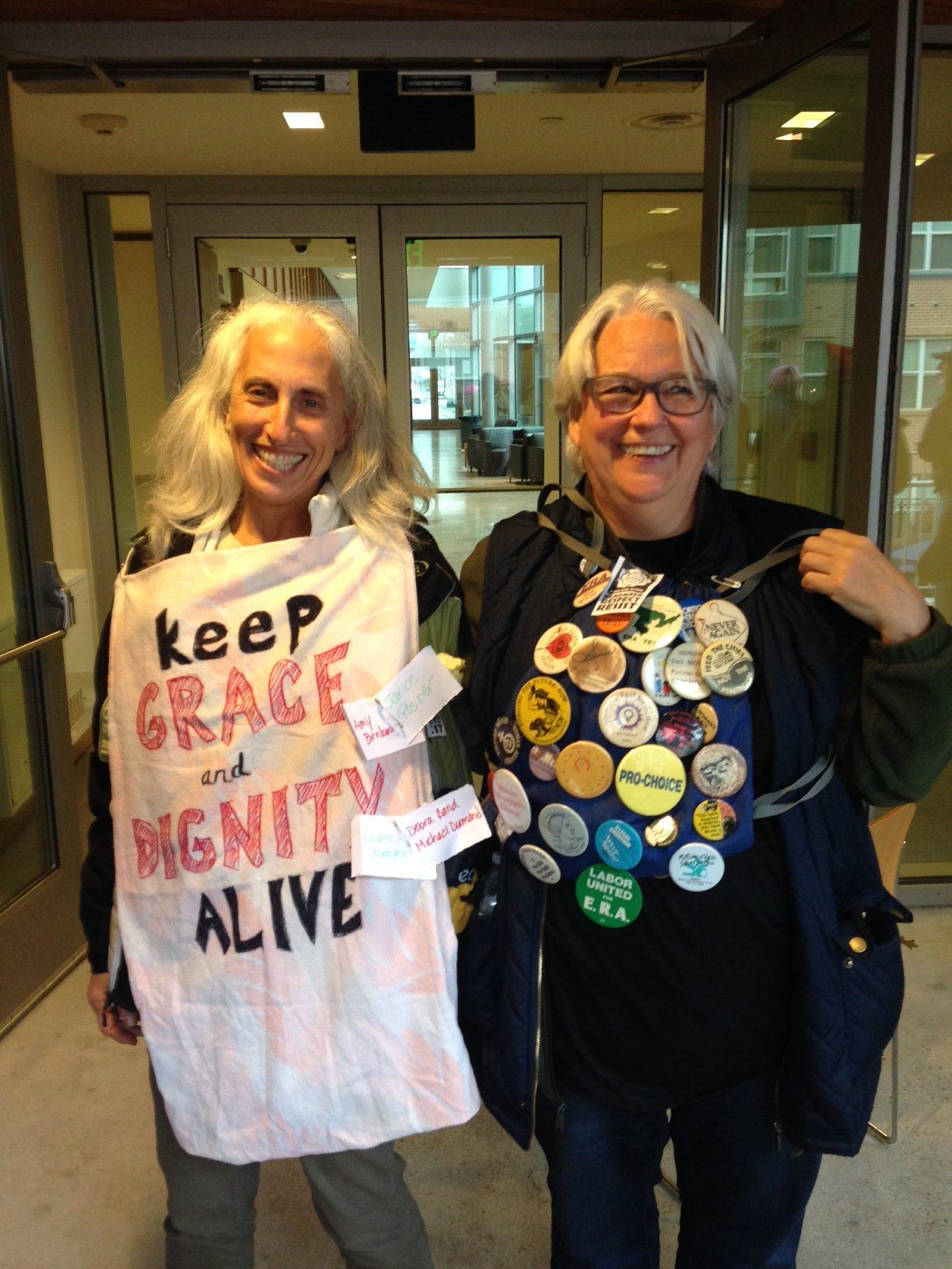 Judy Rosenthal (left) & Karen Elrich (right)